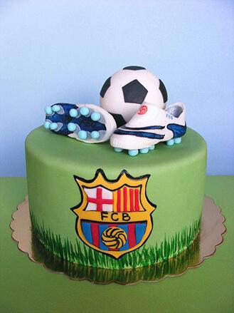 FC Barcelona Birthday Cake broadwaybakerycom 39362