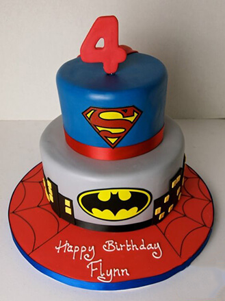 Superheroes Collide DC vs Marvel Birthday Cake broadwaybakerycom