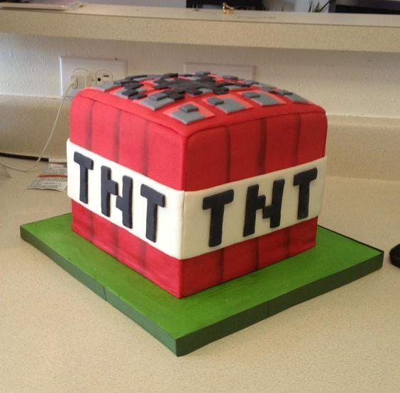 Minecraft Tnt Box Birthday Cake Broadwaybakery 39477