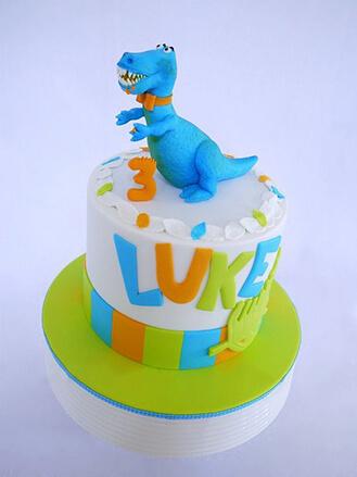 Blue Dinosaur Cake theflowershopae 39981