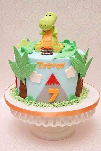 Baby TRex Birthday Cake theflowershopae 39983