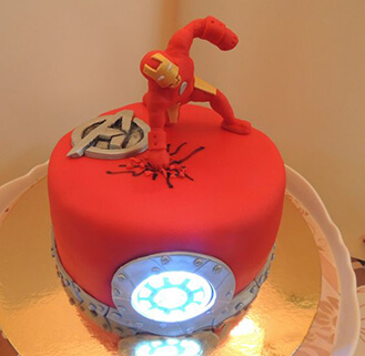 Iron Man Arc Reactor Cake theflowershopae 39760