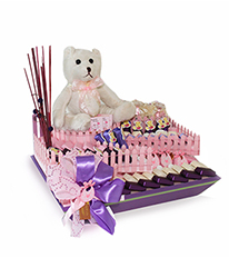 New Baby Girl Chocolate Arrangement - DGI 10285 By ChoCo'a