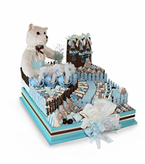 New Baby Boy Chocolate Arrangement - DGI 9247 By ChoCo'a