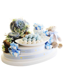 Baby Tray Blue Orchid By forrey & Galland