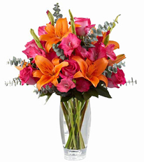 Sweet Samba Rose & Lily Bouquet