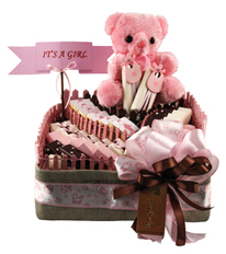 Square It's a Girl Basket DGI 8805 By ChoCo'a