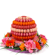 French Macaroon Ball with Artificial flower By forrey & Galland