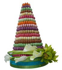French Macaroon Tower By forrey & Galland