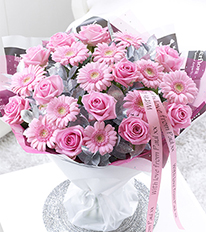 Personalised Pretty Pink Hand-tied