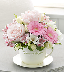 Mother's Day Teacup and Saucer Arrangement