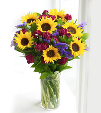 Mini Sunflower Hand-tied