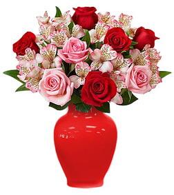 Summer Delight Rose & Peruvian Lily