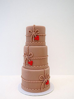 Sophisticated Triple Tiered Valentine's Cake