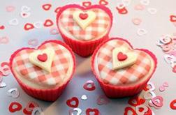 Plaid Heart Valentine's Half Dozen (6) Cupcakes