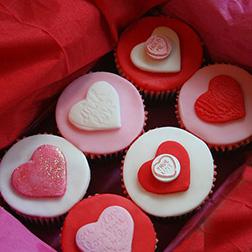 Secret Admirer Valentine's Day Half Dozen (6) Cupcakes