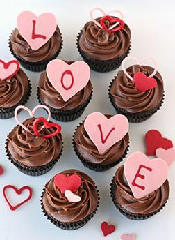Chocolate Swirl Valentine's Day Half Dozen (6) Cupcakes