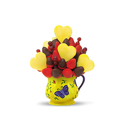 Pineapple Hearts Valentine's Day Fruit Bouquet