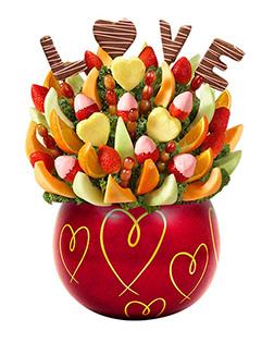 Sweet  Adoration Valentine's Day Fruit Bouquet