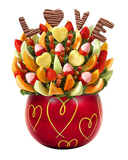 Sweet  Adoration Valentine's Day Fruit Bouquet