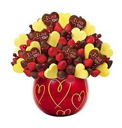 Love Blossoms Valentine's Fruit Bouquet