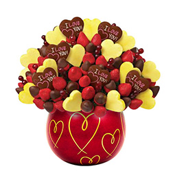 Love Blossoms Valentine's Fruit Bouquet