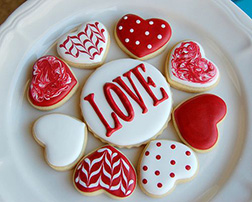 Chic Red and White Valentine's Cookies