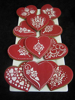 Grand Red and White Valentine's Day Cookies