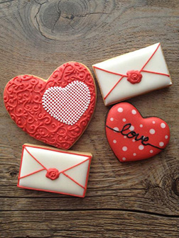 Love Letter Valentine's Day Cookies