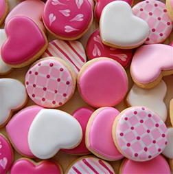 Passionate Pink and White Cookies