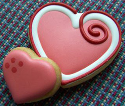 Satin Hearts Valentine's Day Cookies
