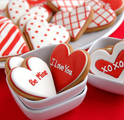 Message of Love Valentine's Day Cookies