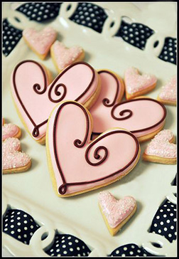 Pretty in Pink Valentine's Day Cookies