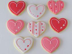 Pink & White Heart Swirls Cookies
