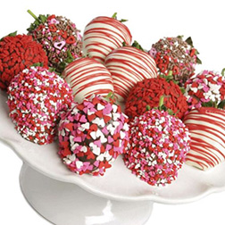 Colors of Love Valentine's Day Strawberries