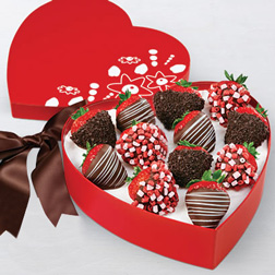 Sprinkles of Love Dipped Strawberries