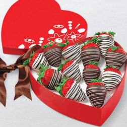 Perfect Couple Heart Box Dipped Strawberries