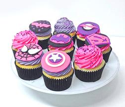 Superhero Women's Day Cupcakes - Half Dozen