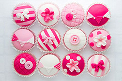 Shades of Pink Cupcakes - Half Dozen
