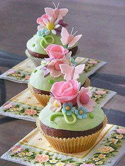Floral Elegance Cupcakes - Half Dozen