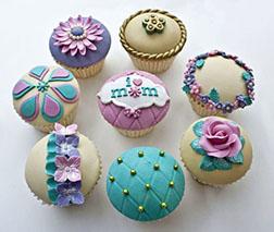 Chic Cupcakes For Mom - Half Dozen