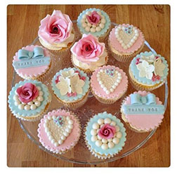 Pearl Hearts Mother's Day Cupcakes - Dozen