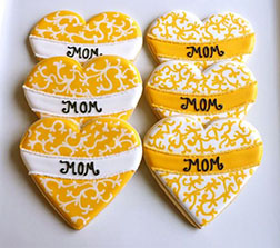 Lace Hearts Mother's Day Cookies