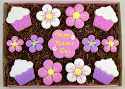 Pink & Purple Mother's Day Cookies