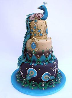 Grand Peacock Eid Cake