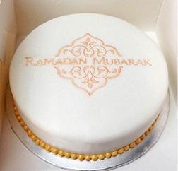 Classic Ramadan Mubarak Cake