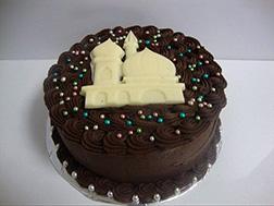 Chocolate Swirls Eid Cake