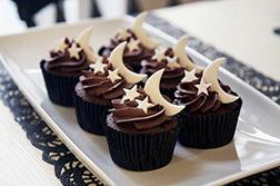 Crescent Swirls Half Dozen Cupcakes