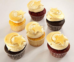 Ramadan Starry Night Half Dozen Cupcakes