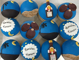 Ramadan Moon Half Dozen Cupcakes